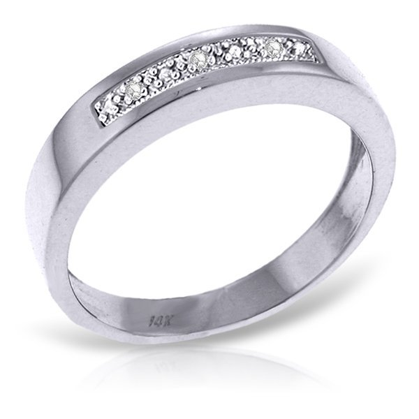 14K White Gold K-M color,I-3 clarity Diamond Ring