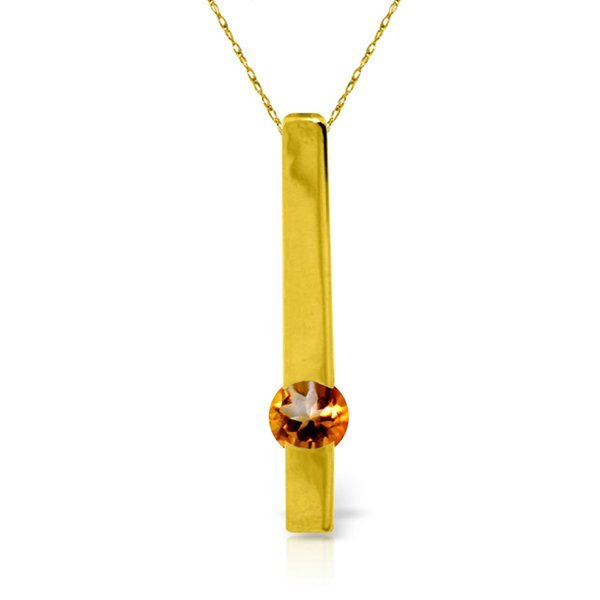 14K YELLOW GOLD 0.25ct NATURAL CITRINE NECKLACE