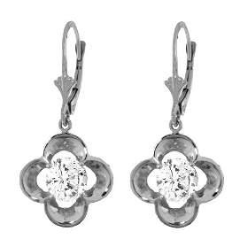14k Solid Gold 1.0ct Diamond Flower Earrings