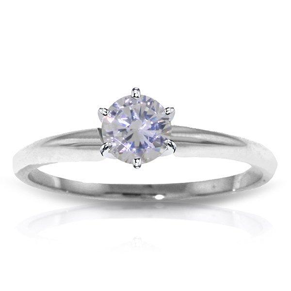 0.35 CT. H-I, SI-2 Genuine Diamond Ring in 14k White Go