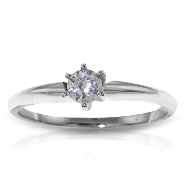 0.20 CT. H-I, SI-2 Genuine Diamond Ring in 14k White Go