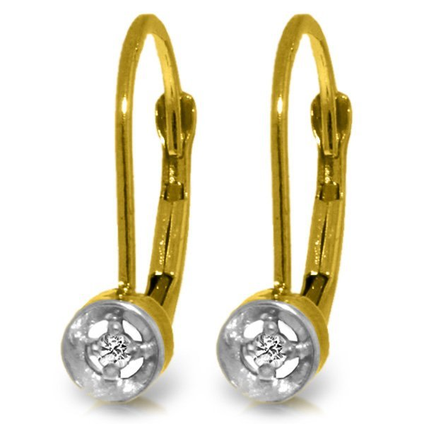 14k Solid Gold 0.03ct Diamond Earrings