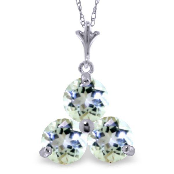 14k White Gold 0.75ct Aquamarine Necklace