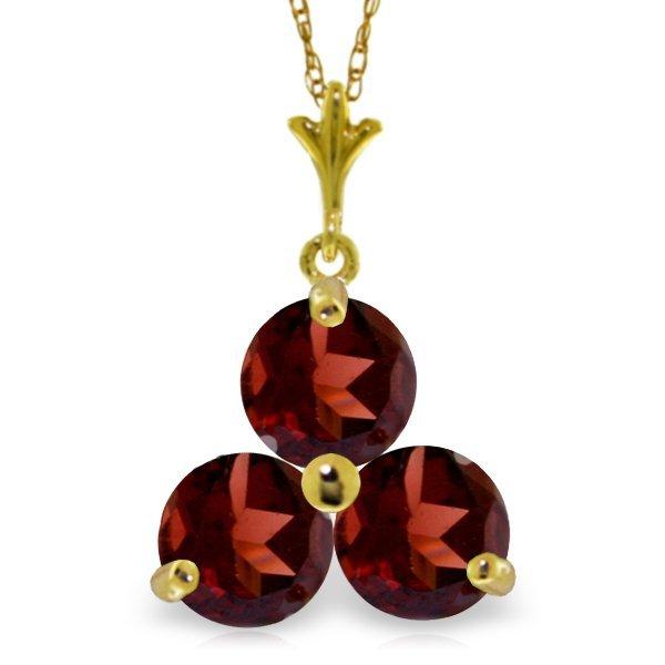 14k Yellow Gold 0.75ct Garnet Necklace