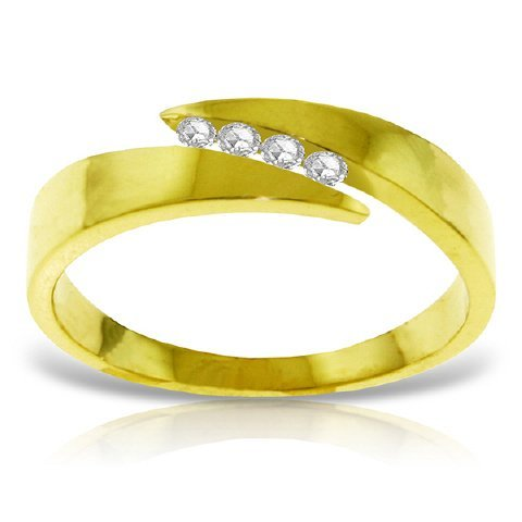 0.12ct Channel Set Diamond Ring in 14k Gold