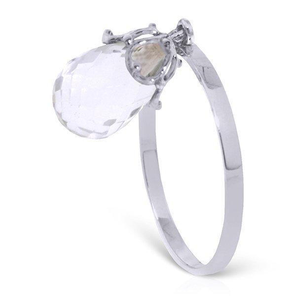14k 1.60gr Solid Gold 3.0ct White Topaz Ring