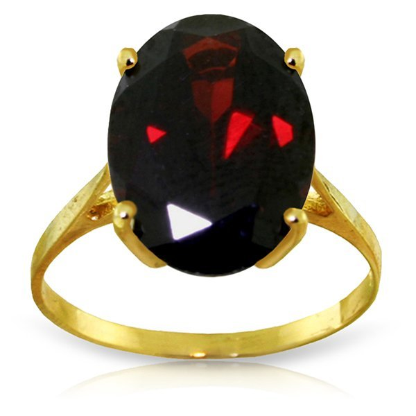 14k Yellow Gold 6.0ct Oval Garnet Ring