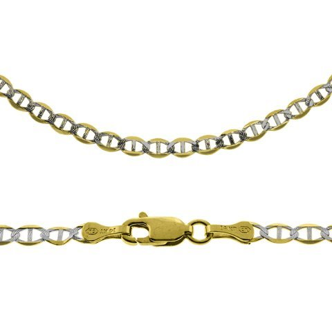 """22"""" 14k Gold Gucci-Mariner Two Tone Chain 3.10mm wide"""
