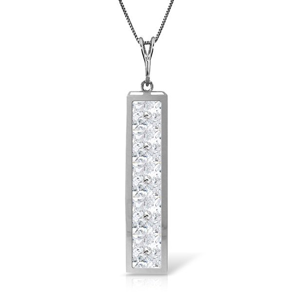 14k Solid Gold 2.25ct White Topaz Necklace