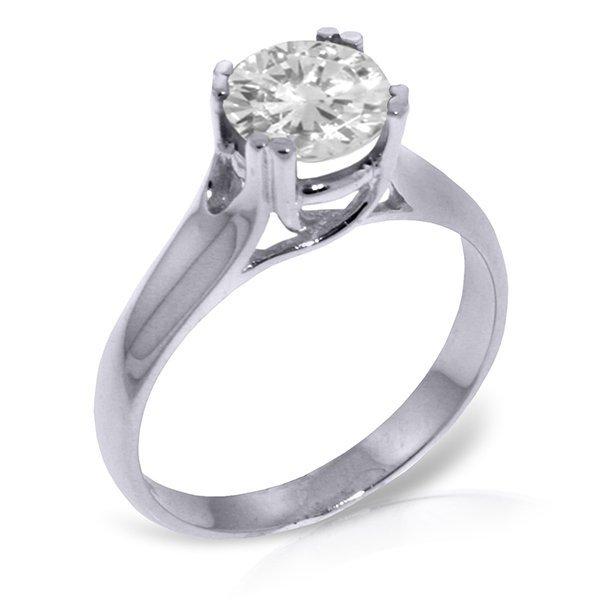 1.0 CT. F-G SI3 Genuine Diamond Ring in 14k White Gold