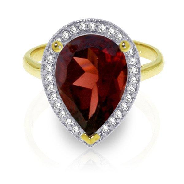 4.06ct 14k Solid  Gold Shade Of Love Garnet Diamond