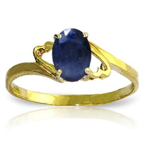14k Yellow Gold 1.0ct Sapphire Swirl Ring