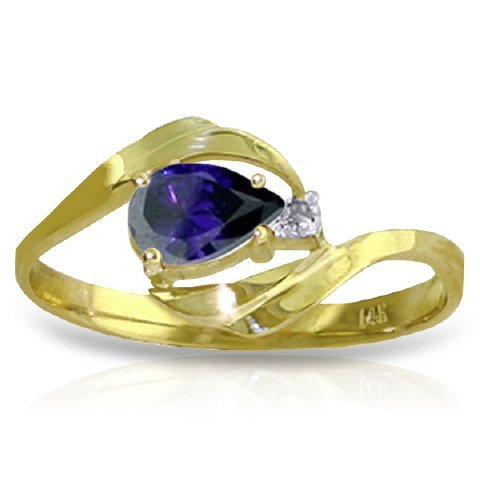 0.50ct Sapphire Swirl Ring in 14k Yellow Gold