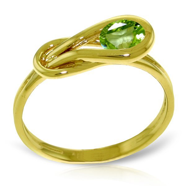 14K YELLOW GOLD 0.65ct NATURAL PERIDOT RING
