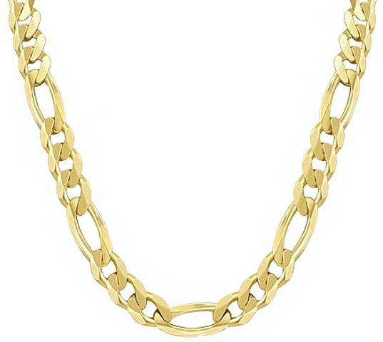 """18"""" 14k Solid Gold Figaro Chain 4.70mm wide"""
