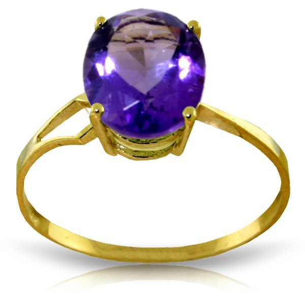 14K Y. GOLD RING WITH 2.20ct NATURAL AMETHYST