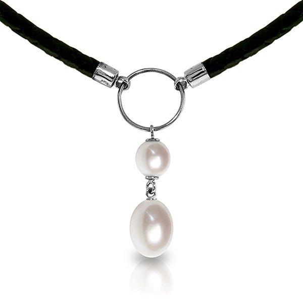 14K White Gold 2.0ct Pearl & 4.0ct Briolette Pearl