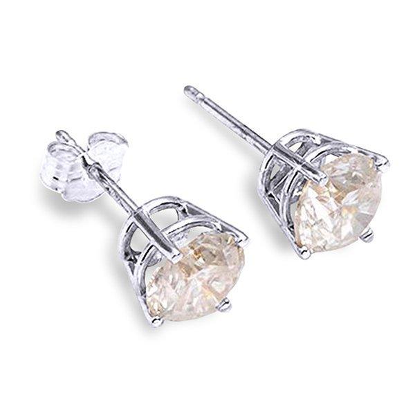 14K WHITE GOLD 0.30ct H-I SI2 DIAMOND STUD EARRING