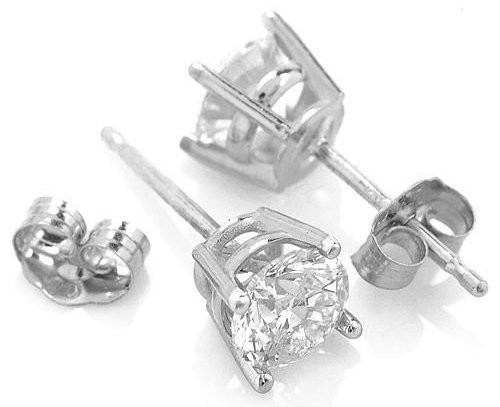 1.50 CT. J-K SI2 Genuine Diamond 14k Gold Stud Earrings