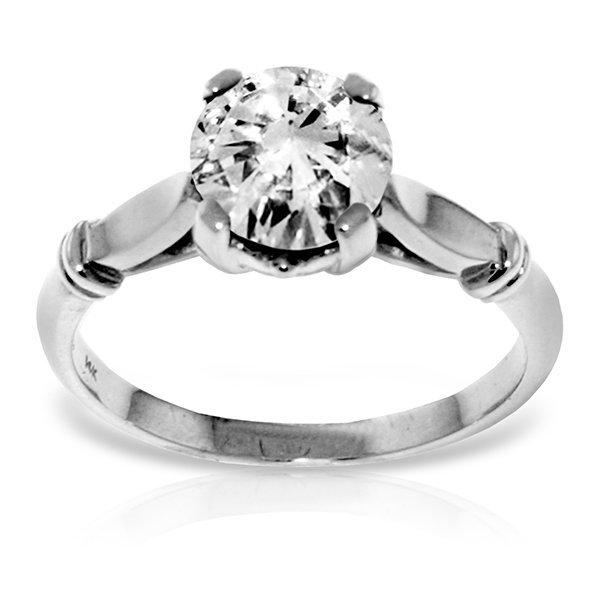 1.0 CT F-G SI3 Genuine Diamond Ring in 14k White Gold