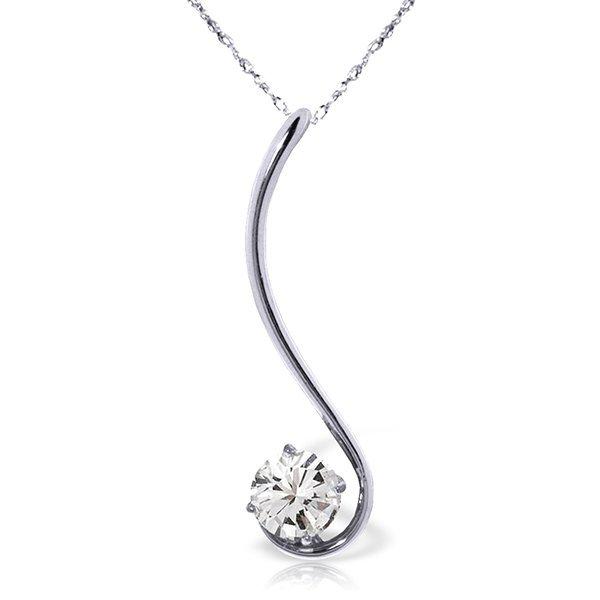 14k WG 0.50ct J-K, SI2 Diamond Necklace