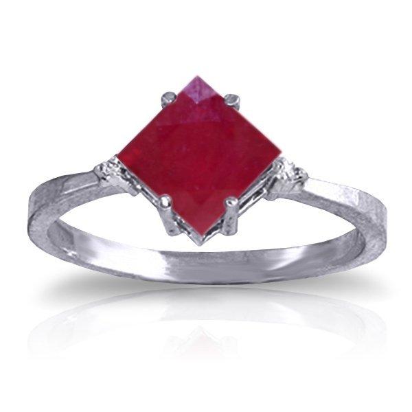 14K White Gold 1.45ct Ruby & Diamond Ring
