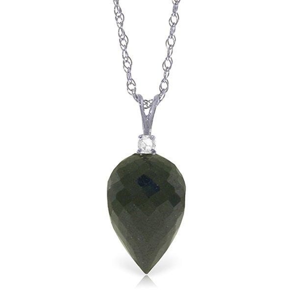 14k WG 12.25ct Black Spinel & Diamond Necklace