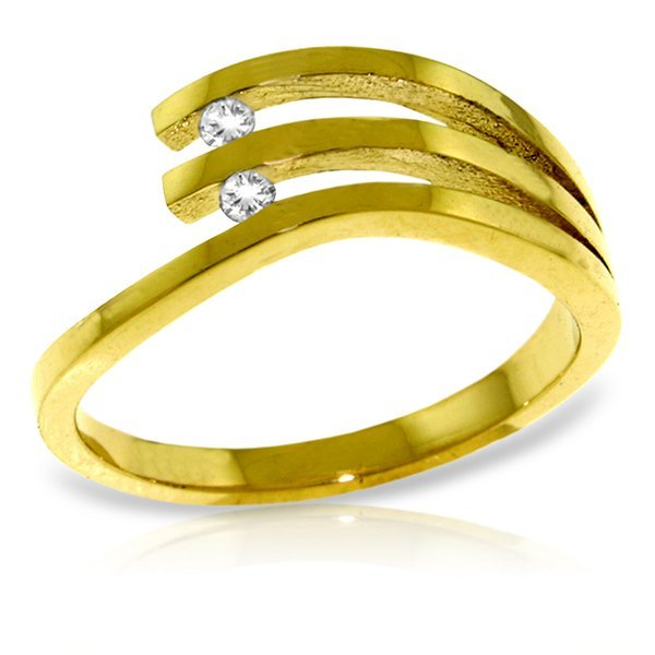 14k Yellow Gold 0.06ct Diamond Ring