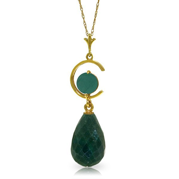 14K Solid Gold 8.8ct .50ct Emerald Leverback Earring