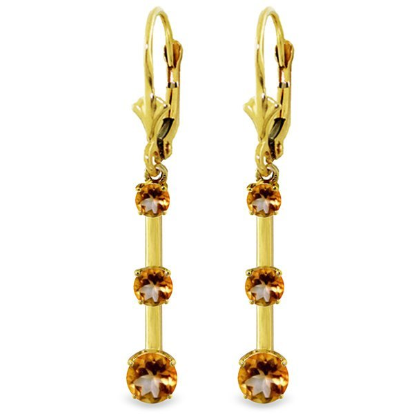 14k Yellow Gold Citrine Graduated Earrings