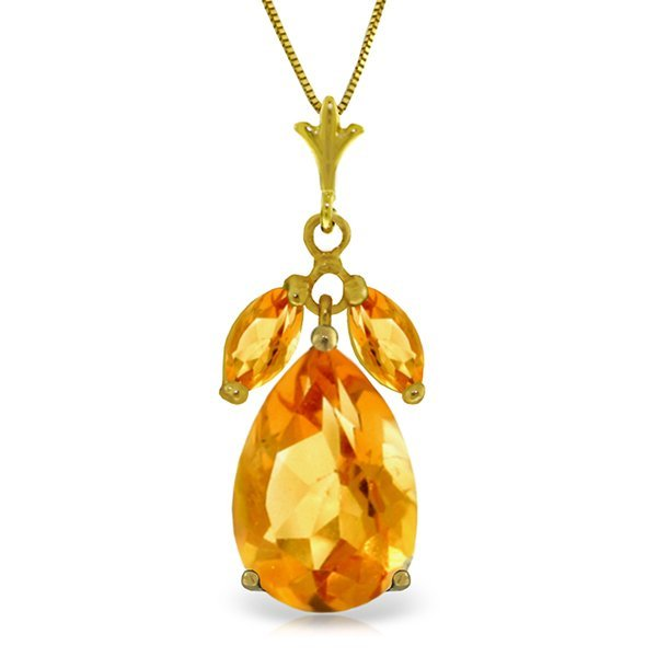 14k Yellow Gold 6.50ct Citrine Necklace