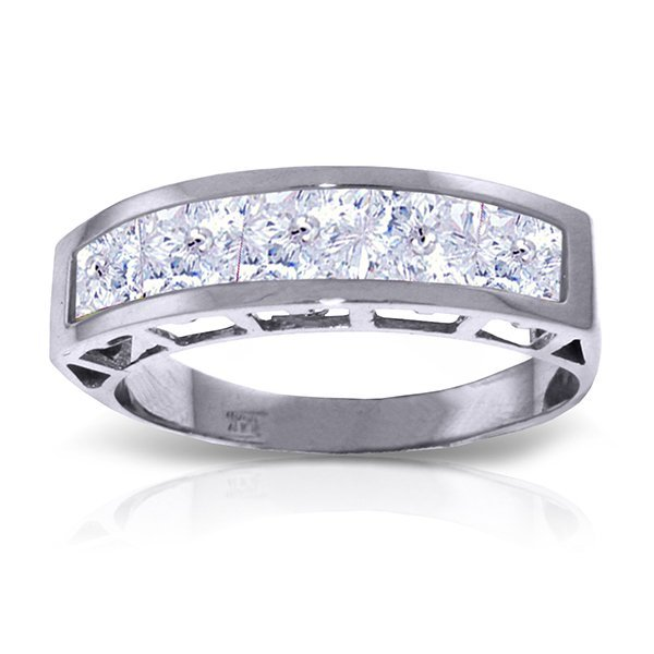 14K White Gold 2.25ct Square Aquamarine Ring