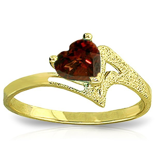 14k Gold 0.90ct Garnet Heart Ring