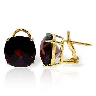 9.00ct Garnet French Clip Earrings in 14k YELLOW GOLD