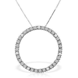 14K White Gold .10ct K-M,SI-2 Clarity Diamond Necklace