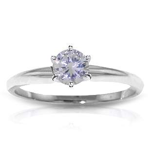 0.30 CT. H-I, SI-2 Genuine Diamond Ring in 14k White Go