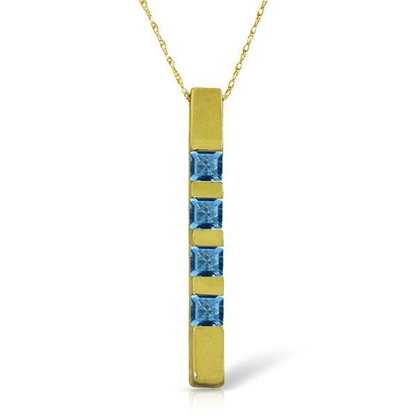 14k Solid Gold 0.35ct Blue Topaz Earrings