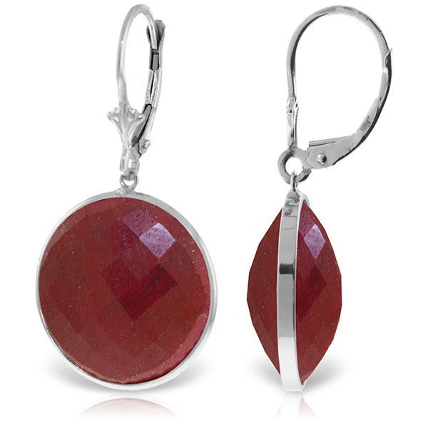 14K White Gold CHECKERBOARD CUT  46.0ct ROUND RUBIES