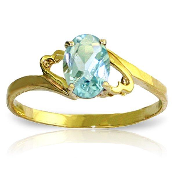 14k Yellow Gold 0.75ct Aquamarine Ring