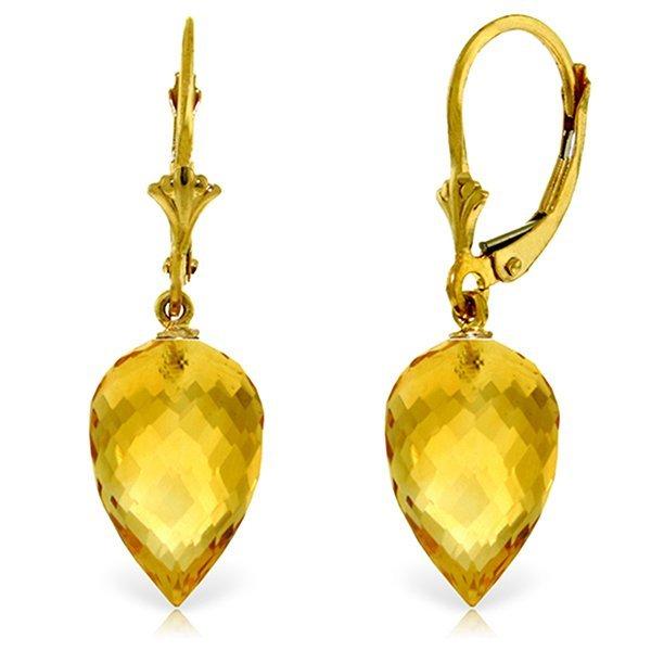 14k YG 19.0ct Citrine Briolette Earrings