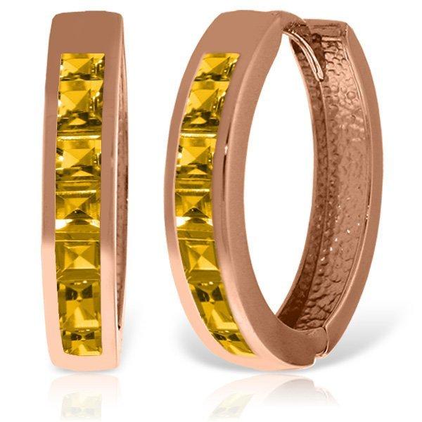 14K Rose Gold 1.20ct Citrine Huggie Earring
