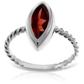 14K White Gold 2.00ct Marquis Garnet Ring