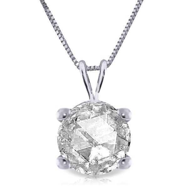 14k Gold 0.50ct SI2 J-K Genuine Diamond Necklace