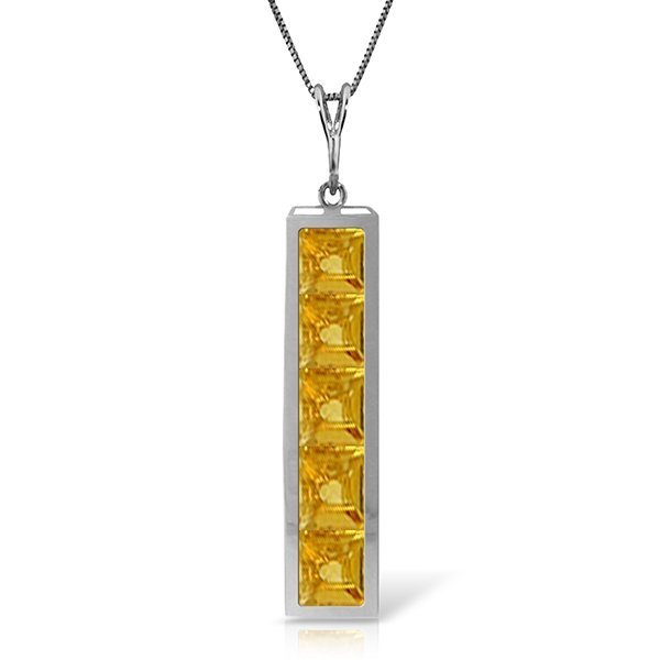 14k Solid Gold 2.25ct Citrine Necklace