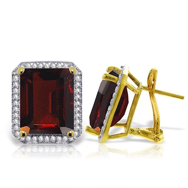 15.4ctt 14k Solid  Gold Isabella Garnet Diamond