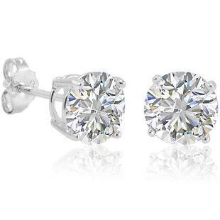 Sterling Silver .40 CTW Round CZ Stud Earrings