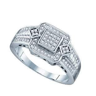 10KT White Gold 0.20CT DIAMOND MICRO PAVE RING