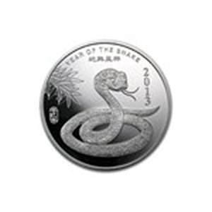 2 oz Silver Round - (2013 Year of the Snake)