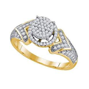 10K Yellow-gold 0.33CT DIAMOND MICRO PAVE RING