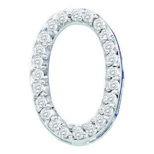 10K White-gold 0.25CTW DIAMOND LADIES FASHION CIRCLE PE